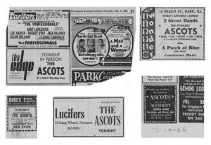 The Ascots at the top of their game: Newspaper ads from the 1966-67 heyday