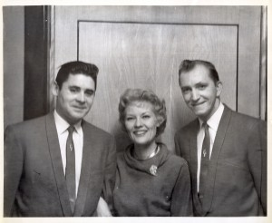 "The Mark II meet ""The Singin' Rage - Miss Patti Page"" (Wayne, Patti and Ray at a Boston television studio prior to their performance at The Boston Ballroom, 1960)"