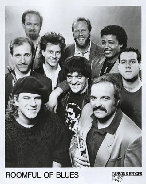 Roomful circa 1989: Carl Querferth at top center; Tommy K at center right