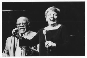 Carol with Clark Terry, Sarasota, Florida, late 1980s