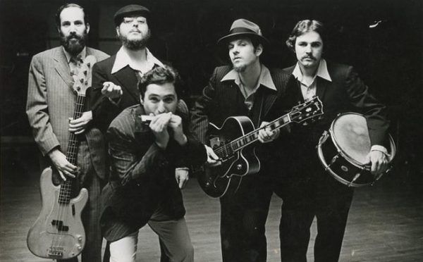 "The original Bluetones circa 1979: Michael ""Mudcat"" Ward, Anthony Geraci, Raymond ""Sugar Ray"" Norcia, Ronald ""Ronnie Earl"" Horvath & Neil Gouvin"