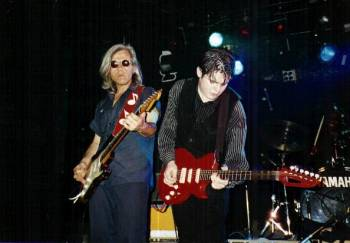 The Monster Mike Welch Band in Europe, 1997 with George Leroy Lewis, Mike's principal songwriting collaborator