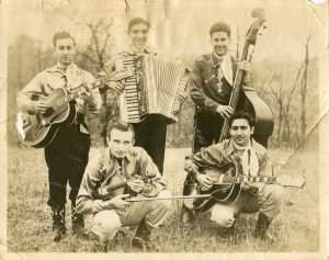 In the 1940s, Ray's uncles on his mother's side, Tony Genese (top left) and Frank Genese (lower right), performed with a popular Country & Western band, The Roving Ramblers, associated with the Eddie Zack organization.